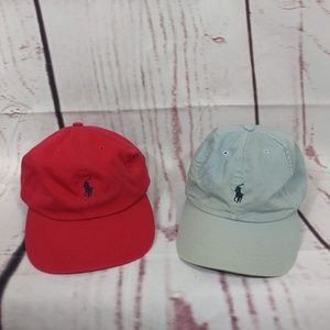 2 Polo Ralph Lauren Pony Spellout Strapback Hats